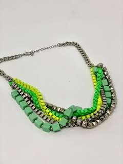 Green and Silver Necklace