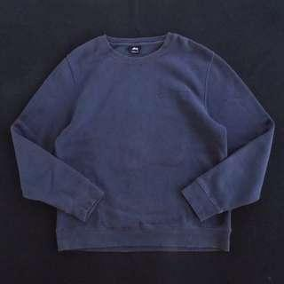 🚚 🇺🇸90s美國製Stussy灰藍色厚磅復古大學T  長袖T恤 男女皆可Vintage 古著老品