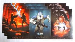 🚚 Star Wars Episode 3 Postcards- Revenge of the Sith