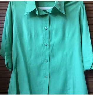 Green Plain Shirt