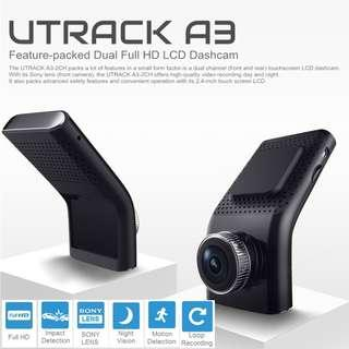 2 CH Dash Cam / Car Camera - FREE INSTALLATION Front and Rear Dual Camera, Parking monitor, Superior Night Vision 1296P HD, LCD Car Camera, Car Video Recorder With G-sensor, Loop Recording, Motion Detection