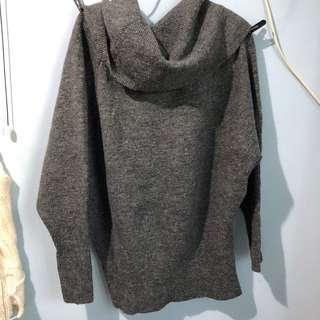 寬鬆灰色冷衫