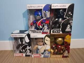 Mighty Muggs Star Wars Marvel Transformers