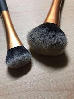 Powder and foundation/blush brushes