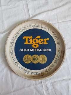 Vintage Tiger Gold Medal Beer Metal Tray