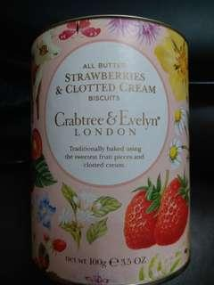 Crabtree & Evelyn strawberries & clotted cream biscuits
