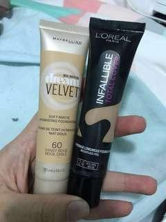 ✨ Maybelline and L'Oréal Foundation