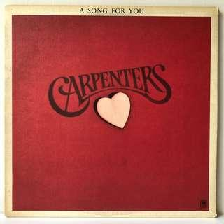 Carpenters – A Song For You (1972 US Original in Rare Envelope Sleeve - Vinyl is Excellent++)