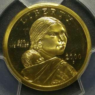[評分: PR69DCAM] 2000-S 美國薩卡加維亞$1美金硬幣一枚