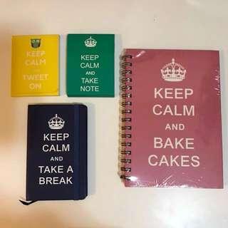 Keep Calm Notebook Set