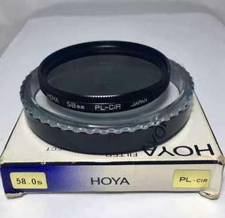 Hoya 58mm PL-CIR Filter, Made in Japan