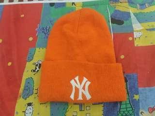 Yankees orange beanie