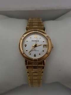 🚚 Authentic Elgin II watch for ladies with Gold elastic metallic band