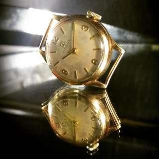 Jam Tangan Wanita Tissot Manual Wind 17 Jewels dengan Case Full Emas /Tissot 17 Jewels Solid Gold Case Watch by Dannison - England.