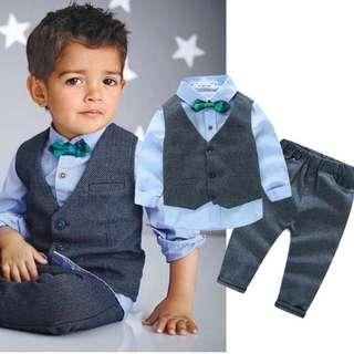 Baby Boy Clothes Sets Gentleman Suit Toddler Boys Clothing Long Sleeve Children