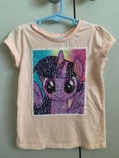 Kids my little pony top that changes