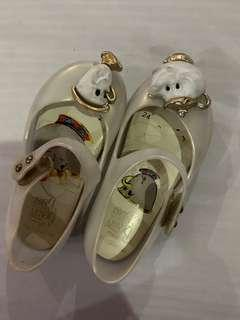 Mini melissa beauty and the beast pearl white (not ori) size 24