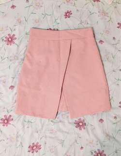 🚚 粉色開叉褲裙