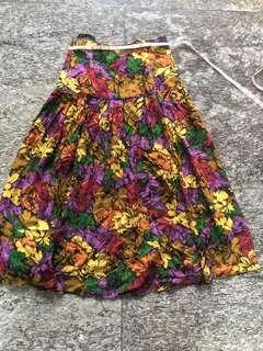 🚚 Floral Skirt High Waited Vintage Skirt