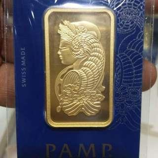 PAMP Suisse 999.9 Purity 24k GOLD BAR 100g -S$5825
