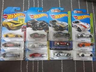 Hotwheels Lot of Nissan Datsun 240z (Fairlady z)