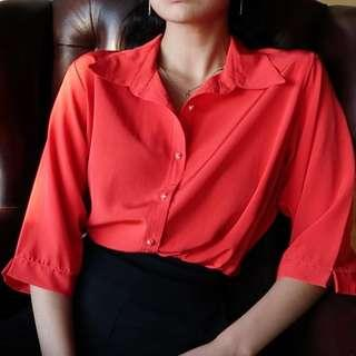 Silky Red Shirt