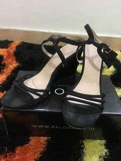 Wedges zalora black