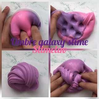 Ombre galaxy slime