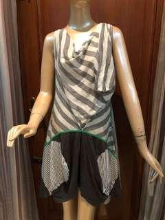 XSML Dress Stripes Gray