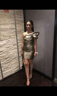 gold dress- bianca and bridgette