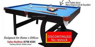 🚚 6ft Foldable Pool table for sale