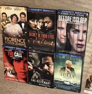 DVD  10 movies some blue ray mint condition