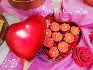 You make my heart sing.... This Rosette cupcakes comes in a red heart can says it all.  Definetly the best valentines gift idea for your love one's.   #rosettecupcakes #valentinegiftideas #enrerasdessert #cakesincan
