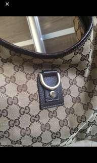 Gucci monogram shoulder handbag