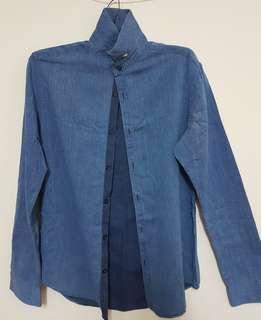 Zara Man's Basic Denim Slim Fit Shirt (EU S / US S / MEX 38)