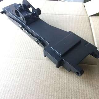 M249 / M46 machine gun feed cover with rear sight. Full metal