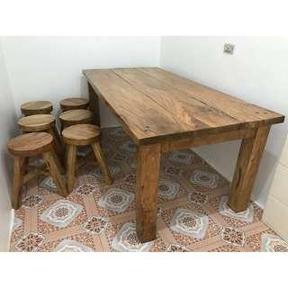 Molave (Mulawin / Tugas) Dining Table and Narra Chair