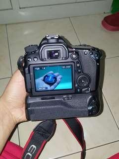 Canon 70d with grip+lens 50mm