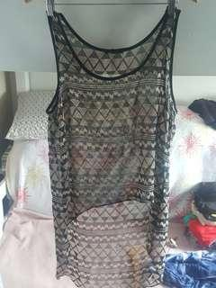 PL Forever21 See-thru top / Cover up Sz M