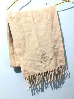 Authentic vivienne Westwood Cashmere Scarf white 米白色頸巾 wool