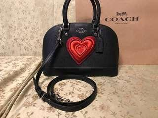 Authentic Coach heart limited edition crossbody