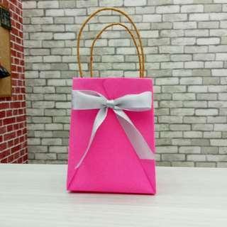Mini Origami Paper Bag Valentine Pink