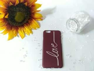 Case Iphone 6 6s Love Wine Red