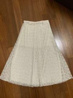 ZARA CREAM SKIRT