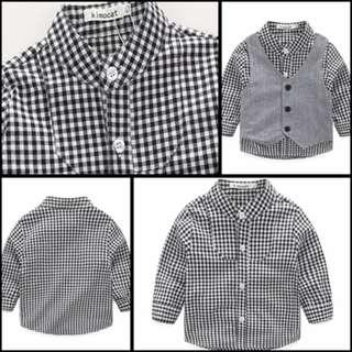 Baby Boy Clothes Gentleman 3pieces/Set Party Long Sleeve Kids Boy Clothing Set