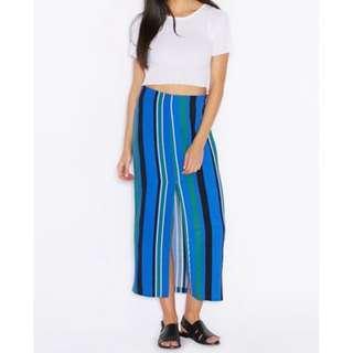 TOPSHOP Striped Split Front Maxi Skirt