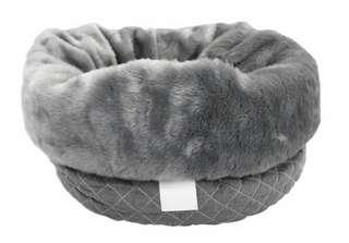 T&S Dog Bed - Bag to Bed Quilted Grey
