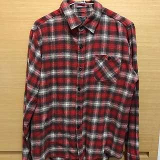 🚚 日本古著店購入。紅格紋法蘭絨襯衫LL