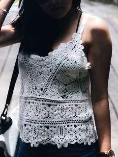 🚚 Crochet top (white)