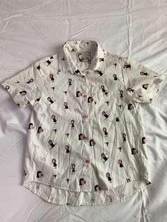 Artwork Printed Cotton Shirt